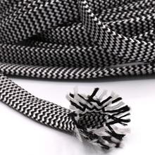 10 メートル綿編組スリーブ白黒 7 12 ミリメートル絶縁編組スリーブケーブルワイヤーグランドケーブル保護