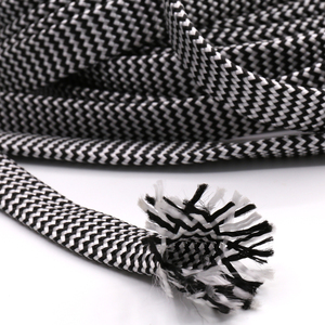 Image 1 - 10M Cotton Braided Sleeving White Black 7 12MM Insulation Braided Sleeving Cable Wire Gland Cables protection