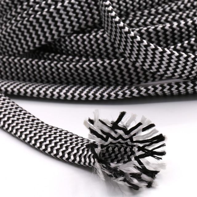 10M Cotton Braided Sleeving White Black 7 12MM Insulation Braided Sleeving Cable Wire Gland Cables protection