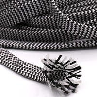 10M Cotton Braided Sleeving White Black 7 12MM Insulation Braided Sleeving Cable Wire Gland Cables protection