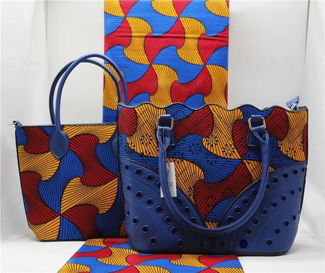 100 Cotton Wax Hollandais 2018 African Print Fabric With Handbags Ankara Bags For