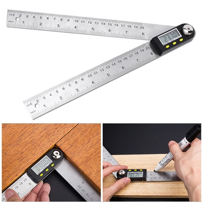 все цены на 200mm Digital Angle Ruler Finder Meter Protractor Inclinometer Goniometer Electronic Angle Gauge Stainless Steel
