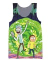 RuiYi Rick and Morty Tank Tops Women Men Charmander Character Cartoon Vest Fashion Clothing Summer Style Jersey top tops tee 2