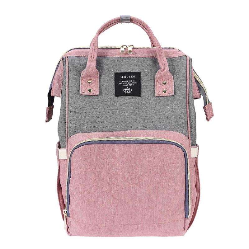 HTB1Chkrc6bguuRkHFrdq6z.LFXao LEQUEEN Fashion USB Mummy Maternity Diaper Bag Large Nursing Travel Backpack Designer Stroller Baby Bag Baby Care Nappy Backpack