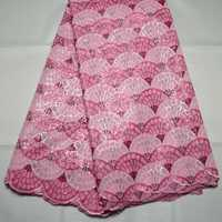High Quality 3 Colors African Double Organze French Sequins Lace Fabric For Nigeria Wedding Free