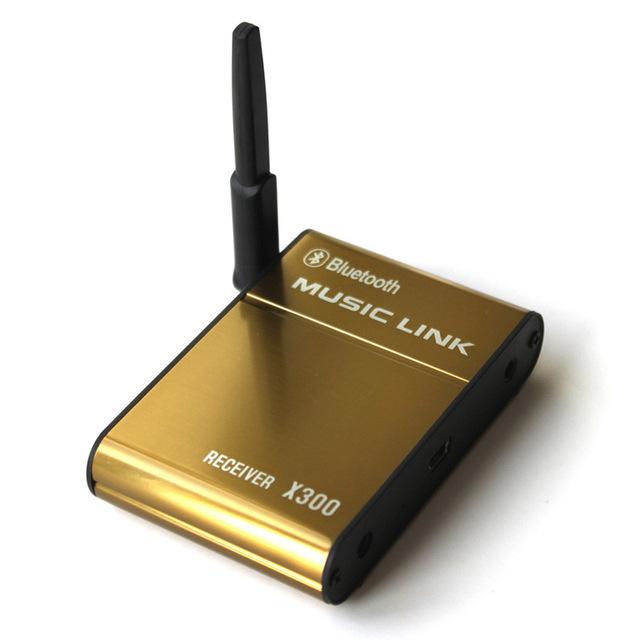 20 m sem fio 2.4gh wireless receptor de áudio bluetooth receptor de música sem fio ligação música receptor de áudio para iphone/tablet/pc saída falante x300