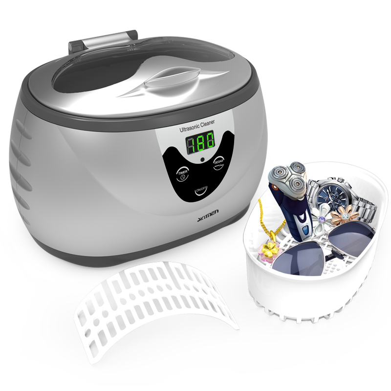 Digital Household Ultrasonic Cleaner Solution Jewelry 600ml 35w With