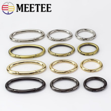 5Pcs Openable Oval Ring Metal Buckels for Bag Garment Belt Strap Dog Chain Snap Clasp Keychain Hooks DIY Sewing Accessories