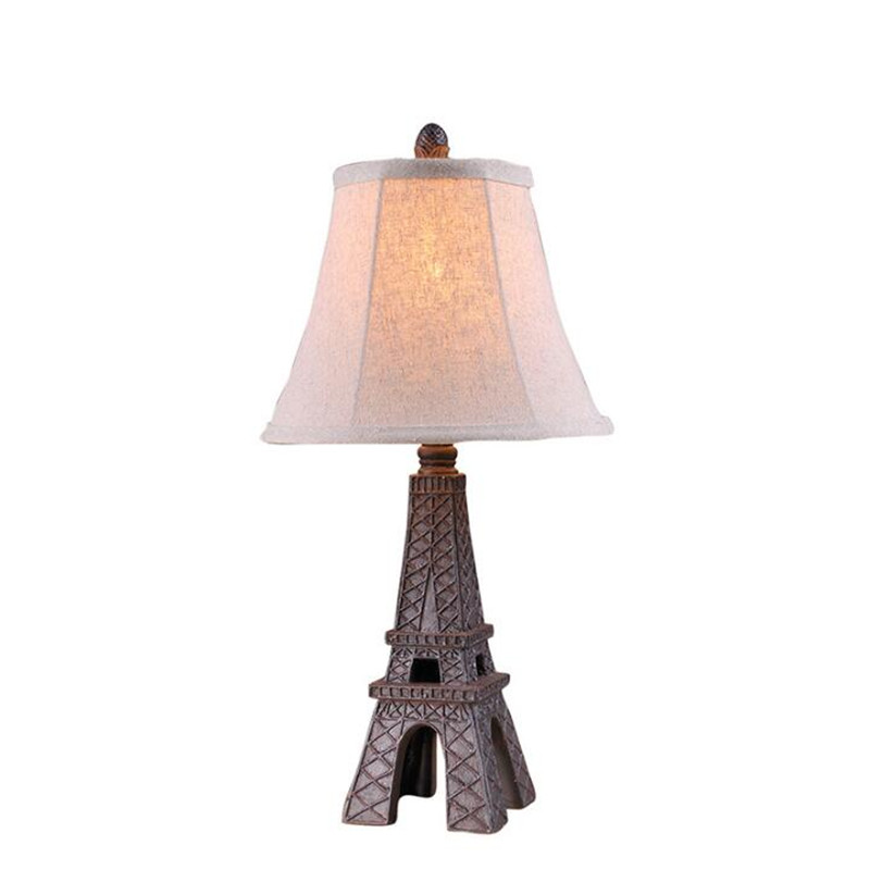 Classical Romantic Exotic Eiffel Tower Iron Fabric Led E27