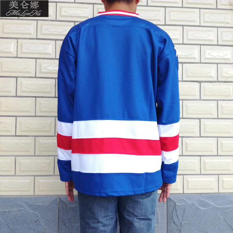 MeiLunNa Christmas Black Friday 1980 Miracle On Ice Team USA Blank No Name No Number Blue White Hockey Jersey 0001 ice hockey jersey usa 30 jim craig 17 jack o callahan 21 mike eruzione steenberge 1980 miracle on ice team sewing size s 3xl