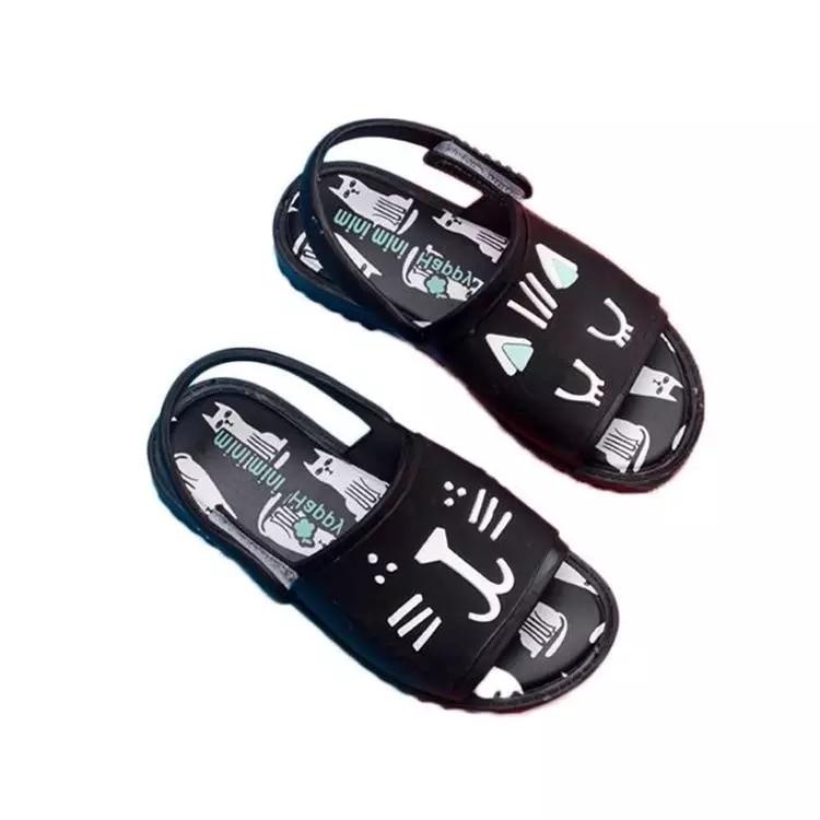 Mini Melissa Cat Girls Jelly Shoe Brazilian Children Sandal Children Shoes Roman Jelly Shoes Girl Breathable Sandals 14.5-19.5cm