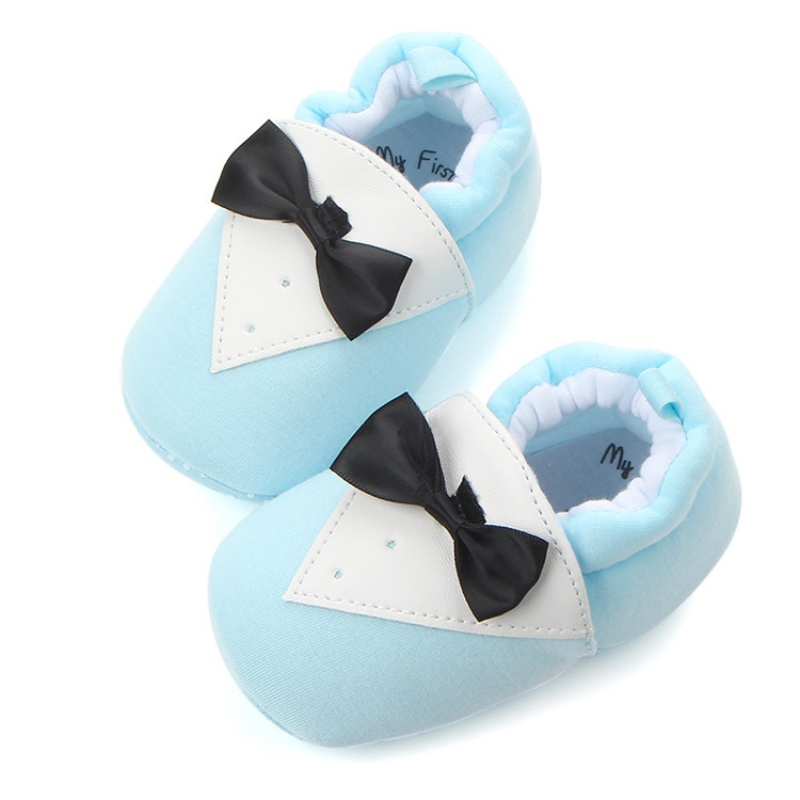 Baby Shoes Cute Bow Tie Autumn First Walking Non Slip Safe Newborn Baby Soft Shoes