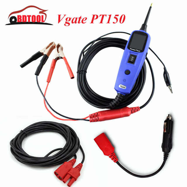 100% Original Vgate PT150 Electric Circuit Tester Same Function as Autel Powerscan PS100 Autek YD208 Free Shipping