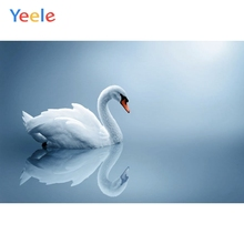 Yeele Photographic Backdrops White Swan Lake Painting Interior Wallpaper Decoration Photography Backgrounds For the Photo Studio