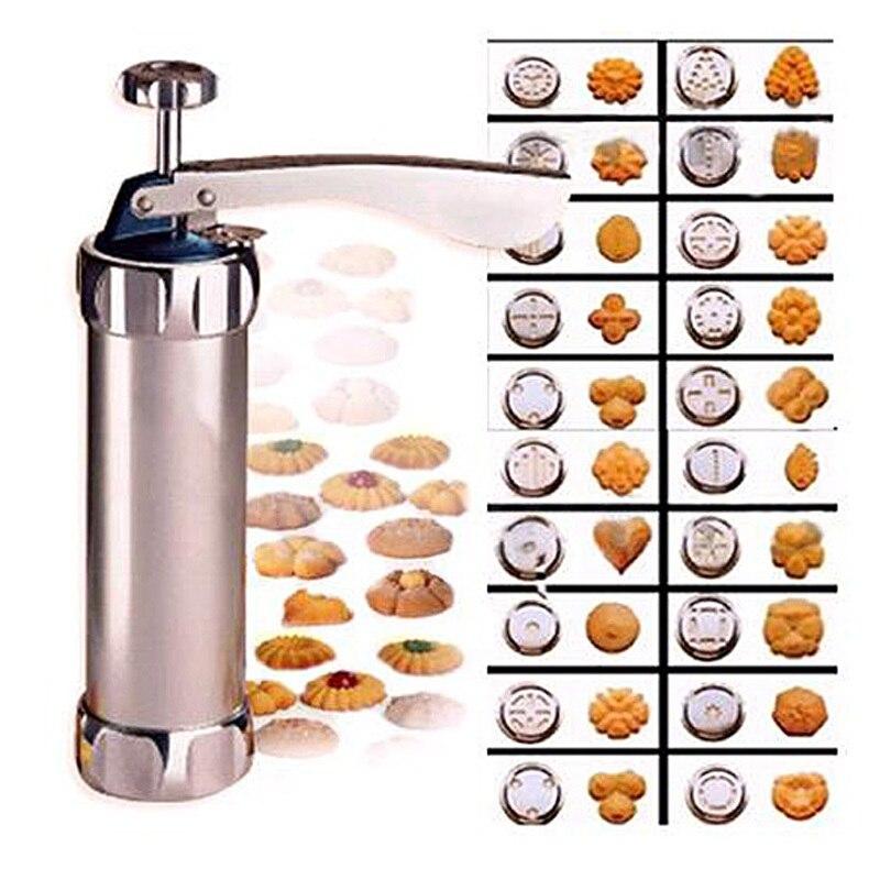 Las Cookies de la máquina de corte de galleta Cookie Maker molde 20 flores 4 montados flor boca Cookie Cutter DIY herramientas de cocina