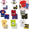 Nueva Llegada Del Verano Los Niños Ropa de Bebé Ropa Niños Niñas Hello Kitty Pijamas de Algodón de Manga Corta Niños Ropa de Dormir Pijamas Fijados