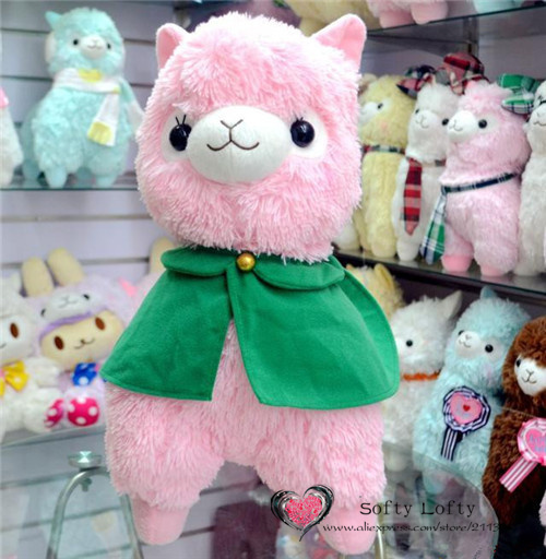 Alpacasso corps plush toys 4 colors - Pink