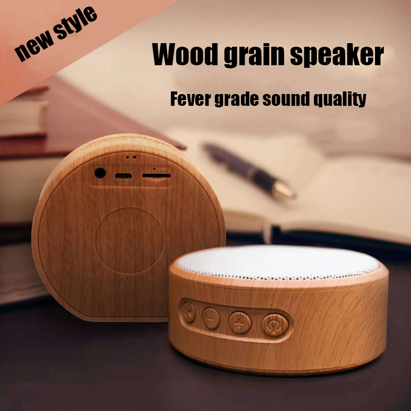 Image 2 - Wood Grain Bluetooth Speaker Portable Outdoor Wireless Mini Bluetooth Sound Box Support AUX TF Card For iPhone Huawei Xiaomi-in Portable Speakers from Consumer Electronics
