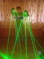 Super cool Nightbar singer DJ stage show 4 fingers 532nm 50mW Green Laser Gloves LED light Gloves