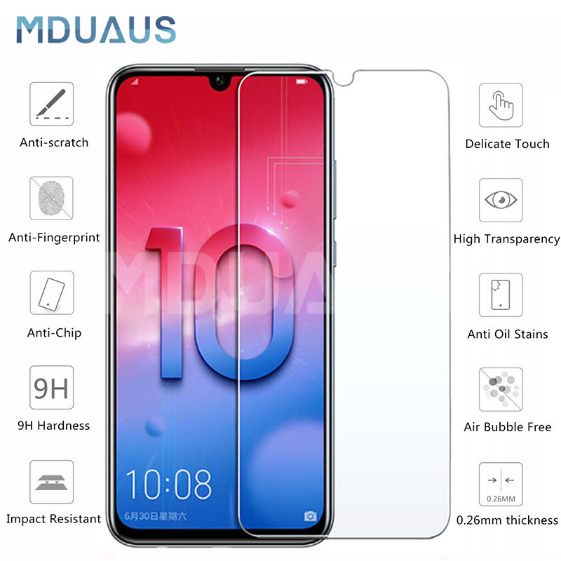 9H Protective Glass On The For Huawei Honor 10 9 8 Lite Honor 8X V20 V10 V9 Play Tempered Screen Protector Glass Film Case