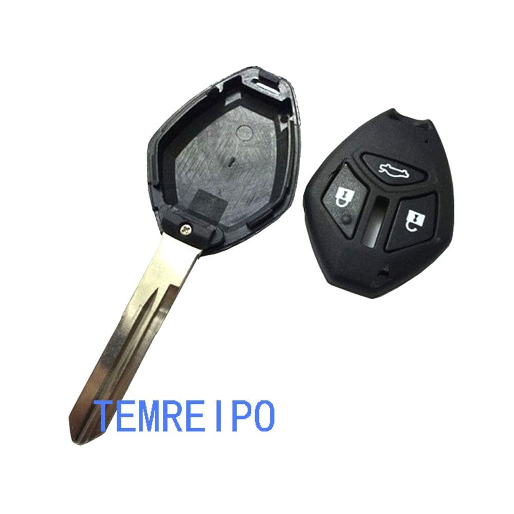 5pcs/lot Replacement keys for Mitsubishi car 3 button remote key shell Montero Sport Eclipse Galant key fob