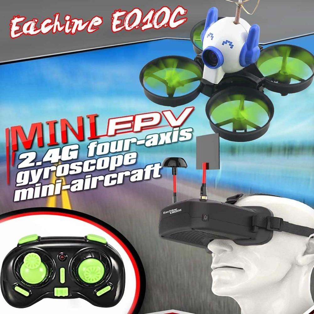Eachine E010C Micro FPV Racing Quadcopter With 800TVL 40CH 25MW CMOS Camera 45C Battery W/ Mount Cap VS H36 E010 RC Drone
