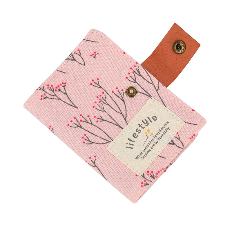 Card Holder Women Pouch for cards 2018 Korean Style Slot Floral Credit ID Card Pack