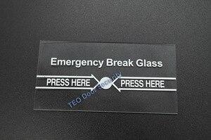 Image 2 - 100 個あたりロット緊急ブレークガラスフル ENGLISH911 警報ボタン火災と緊急アクセスシステムの一部