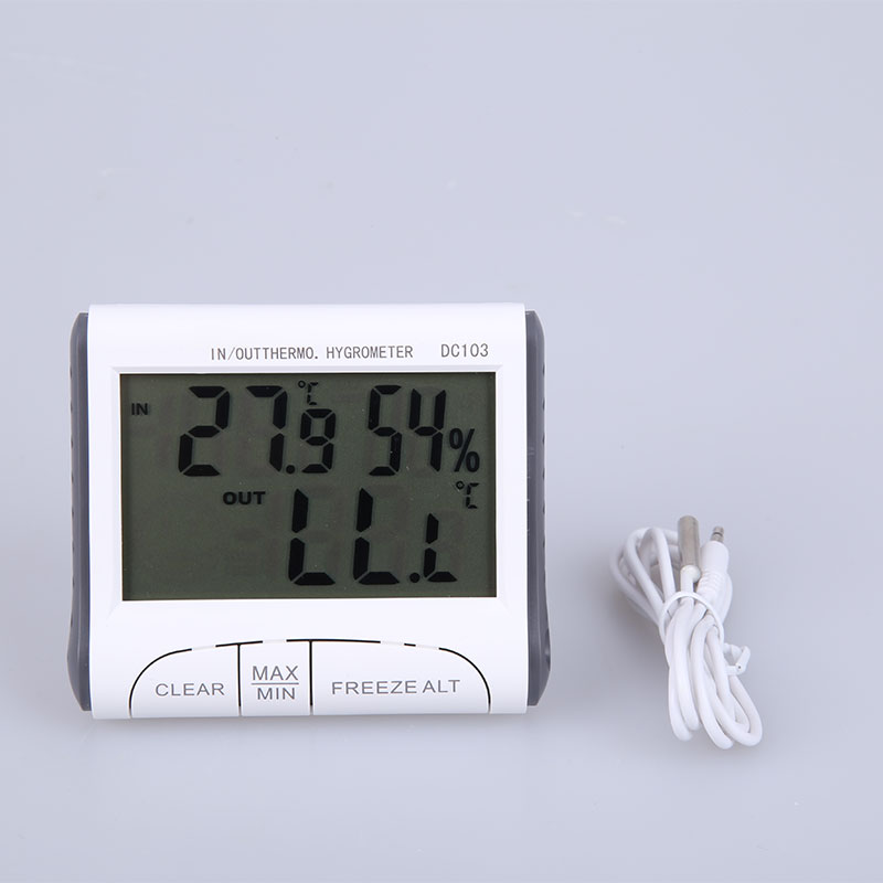 Wired Weather Station Temperature Humidity 2.9″ LCD Indoor Outdoor Digital Thermometer Hygrometer Meter External Sensor Tester