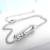 2016 Recién Llegado de Francia Pulsera de Cadena Fina Con Zircon Claro puede Mover 100% 925 Silvr Esterlina Pulseras de Amor Para La Mujer regalo