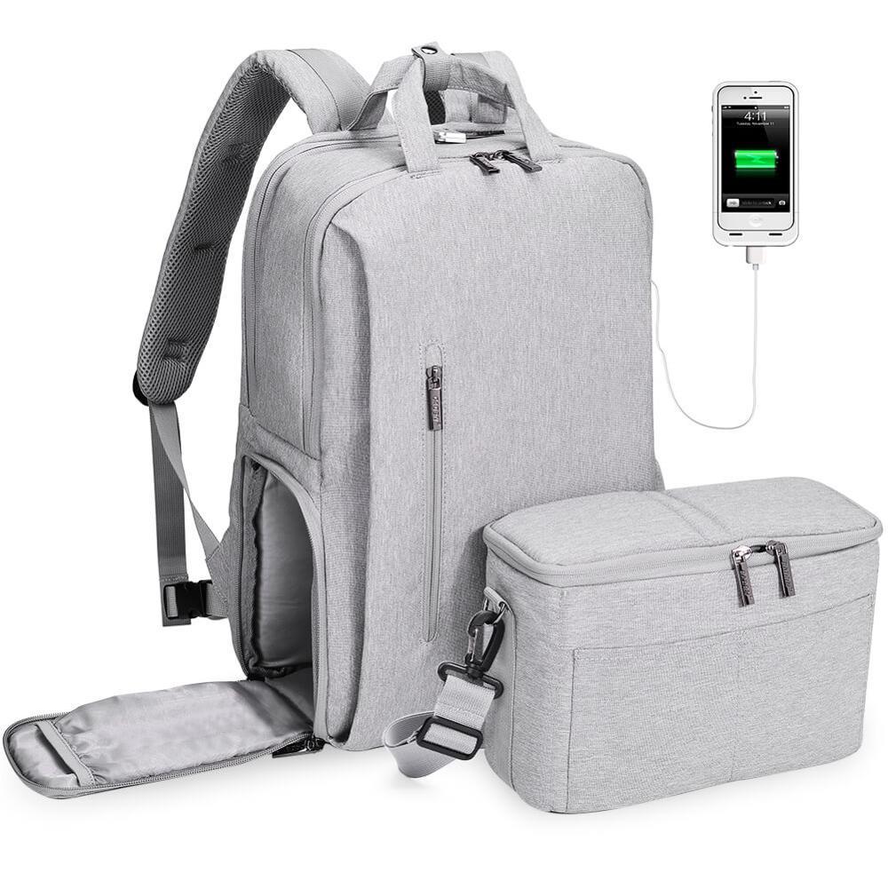 CADeN dslr sac photo étanche sac à dos épaule ordinateur portable appareil photo numérique et lentille photographie bagages sacs étui pour Canon Nikon