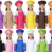 Painting Apron Can-Print-Logo Kids Baking Chef-Hat Children's Polyester