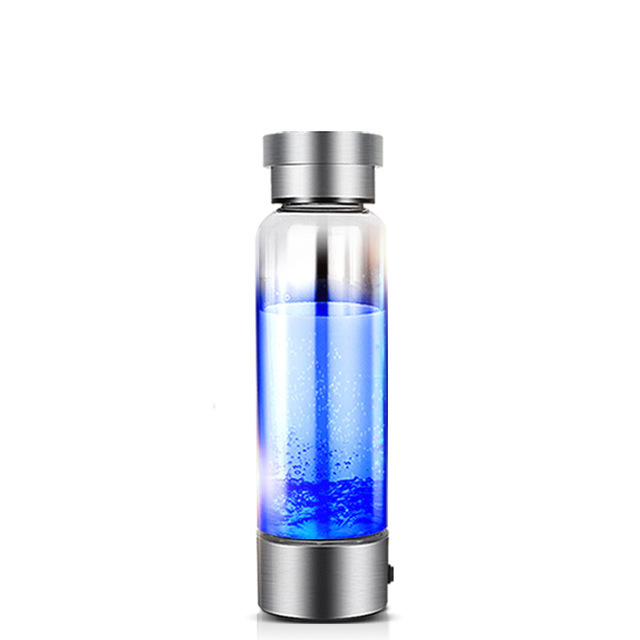 350ml Hydrogen Rich Water Generator Japanese Alkaline Energy Glass bottle Anion Water Ionizer Anti USB H2 Healthy Smart Cup