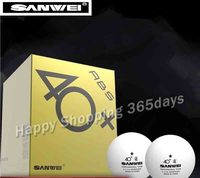 SANWEI 1 Star 40+ New Material Seamed PP Ball Table Tennis ball / ping pong ball
