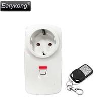 Earykong Wireless EU Standard Switch Smart Power Socket 433MHz Wirelesss control, Wireless Smart Socket