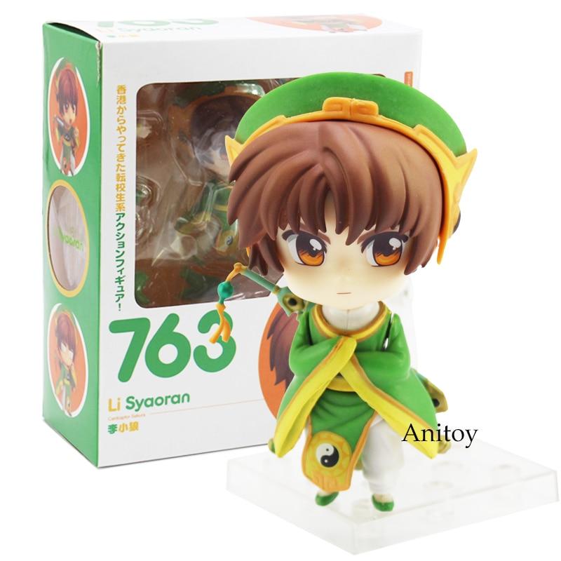 Anime Cartoon Card Captor Sakura Li Syaoran Nendoroids Doll 763 PVC Figure Collectible Model Toy 10cm