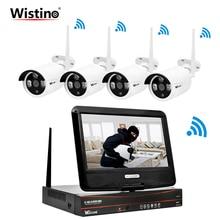 Wistino HD 720 P безопасности WI-FI комплект камеры видеонаблюдения CCTV Камера Системы IP Камера s Беспроводной видеонаблюдения монитор открытый ЖК-дисплей Экран P2P