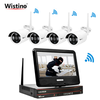 Wistino HD 720P Security WIFI Kit NVR CCTV Camera System IP Cameras Wireless Surveillance Video Monitor Outdoor LCD Screen P2P