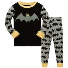 Купить с кэшбэком Cartoon Bat Man Pajamas Set Autumn Winter Baby Boys Sleepwear Children Character Pyjamas Clothes Pijama Infantil kids sleepwear