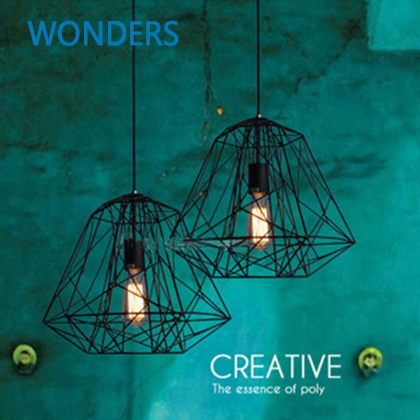 loft modern arts black branch cage industry iron lights pendant light with Edison bulb home bar coffee house decoration loft house loft house p 139