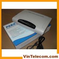 Telefon biurowy przełącznik/PBX z 4 linie x 32 przedłużanie system telefon najlepsza cena w PBX od Telefony komórkowe i telekomunikacja na