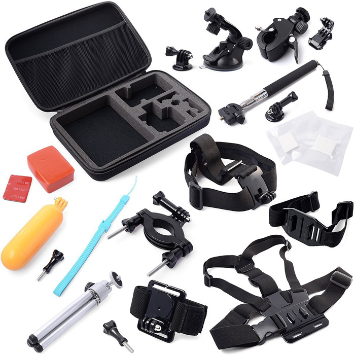 Storage Carry Bag Chest Strap Holder Accessories Set for Gopro Hero