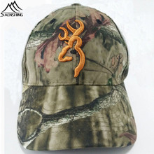 BROWNING Hunting cap Cotton hiking Fishing Outdoor cap real tree camouflage military tactical peaked hat Camo unisex women`s hat