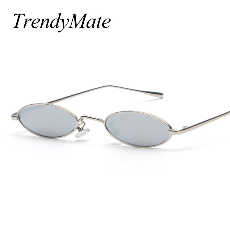 f442907ac 2018 Vintage Retro Small Oval Sunglasses For Men Women Gold Metal Frame  Pink Clear Lens Round Eyeglasses 90s Sunglasses 1282T-in Women's Sunglasses  from ...