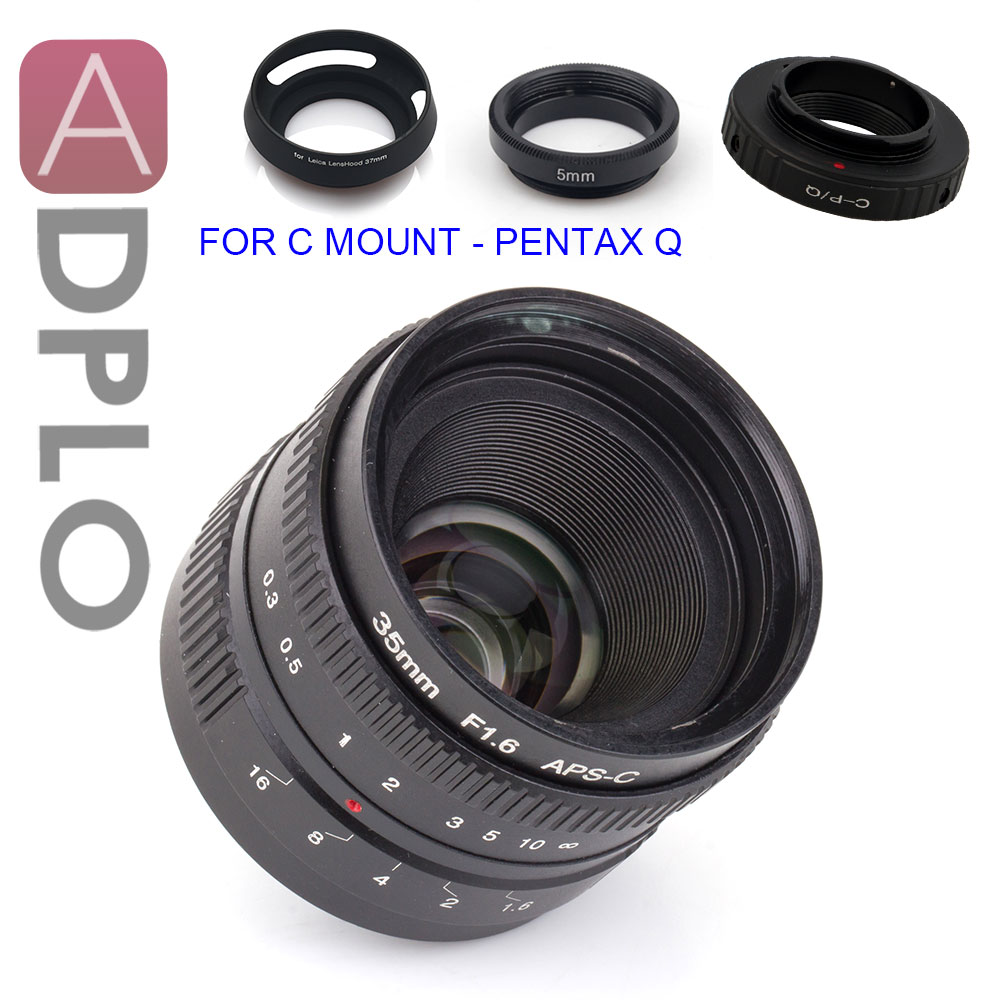 ADPLO APS-C 35mm f/1.6 Lentille + 3 cadeau Costume pour Nikon 1 M4/3 micro 4/3 Pentax Q Nex Fuji fx pour canon EOS M caméra X-T2 X-Pro2 X-E2S