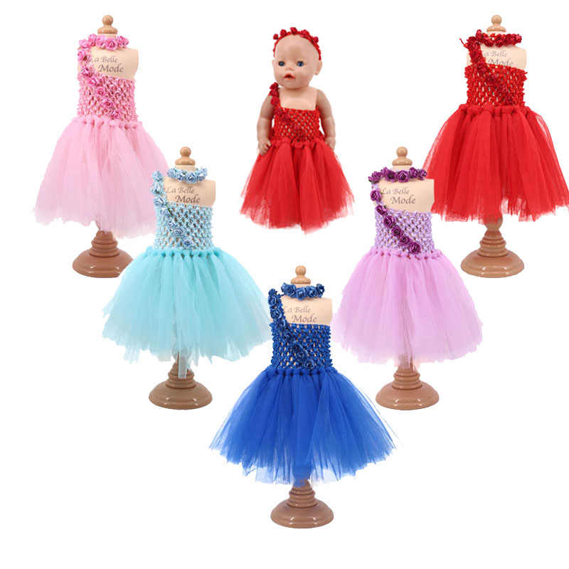 2019 New Arrivals Doll Clothes 5 Pcs Doll Skirts 1 Pcs Skirt=1 Pcs Skirt+Free Head Accessories Best Surprise For Your Baby