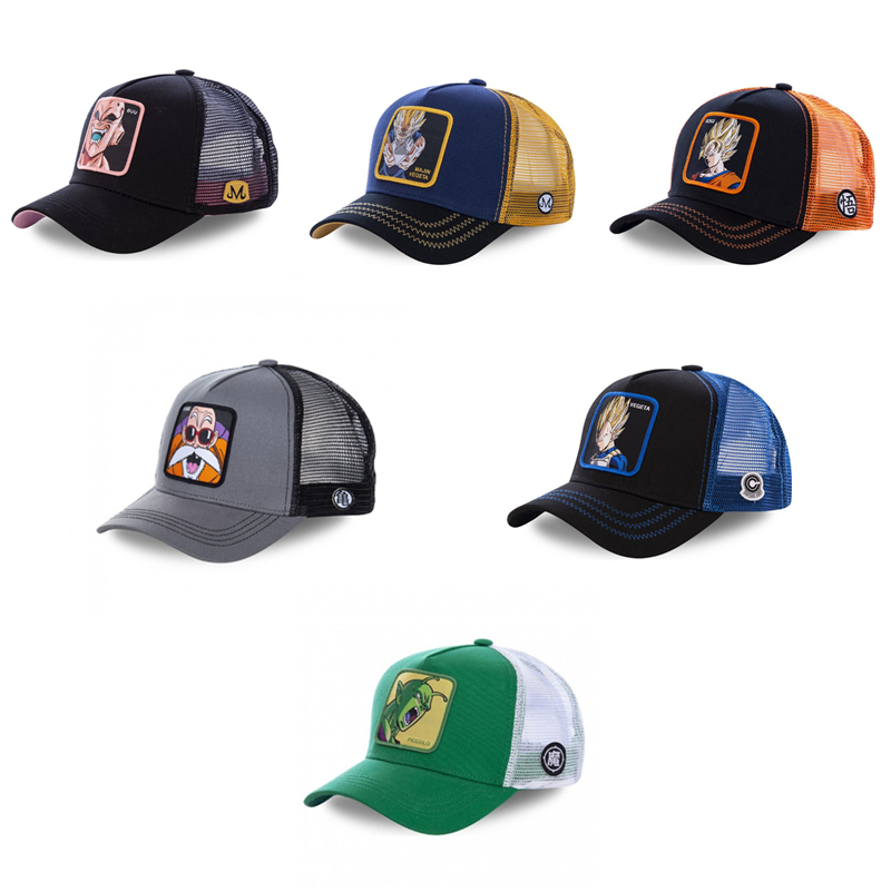 New Summer Dragon Ball Embroidery   Baseball     Cap   Men And Women Fashion Snapback   Cap   Goku Hip Hop Dad Hats For Men Trucker Hat