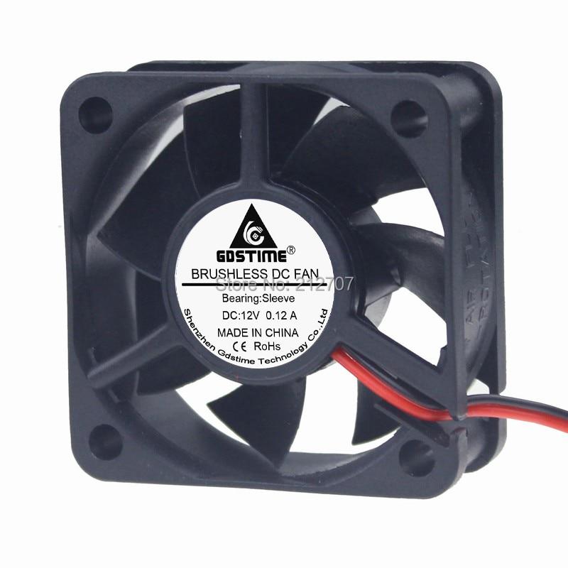 10Pcs 12V 2Pin 50mm 50x50x20mm Quiet Mini Brushless DC Computer Case Cooler Fan