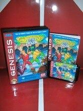 Battletoads и игровой Картридж с двойным драконом с коробкой и ручным 16 бит MD карты для Sega megadrive для Genesis