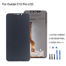 Original For Oukitel C12 Pro LCD Display Touch Screen Digitizer For Oukitel C12 Pro Display Screen LCD Phone Parts Free Tools original used oukitel k7000 lcd display screen touch screen frame for oukitel k7000 mtk6737 5 0 hd 1280x720 free shipping